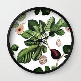Figs White Wall Clock
