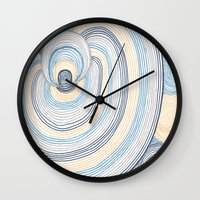 portal Wall Clocks featuring Portal by Shiny Jill