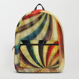 Wild Twirl Abstract Backpack
