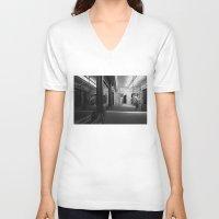 velvet underground V-neck T-shirts featuring underground by catzzz