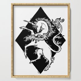 unicorn coat of arms Serving Tray