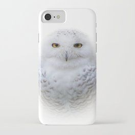 Dreamy Encounter with a Serene Snowy Owl iPhone Case