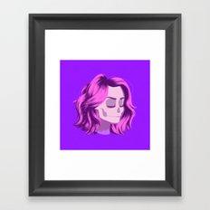 see through girl 4 Framed Art Print