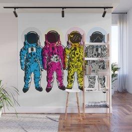 CMYK Spacemen Wall Mural