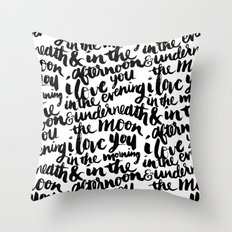 I love you in the morning Throw Pillow