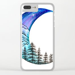 Moon Star Clear iPhone Case