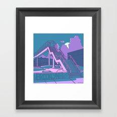 Brooklyn Street Skate Park Framed Art Print