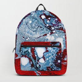 Red and Blue Texture (Color) Backpack