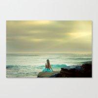 little mermaid Canvas Prints featuring Little Mermaid by Kim Bajorek