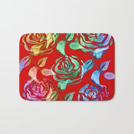 Roses Pattern ZZ Bath Mat