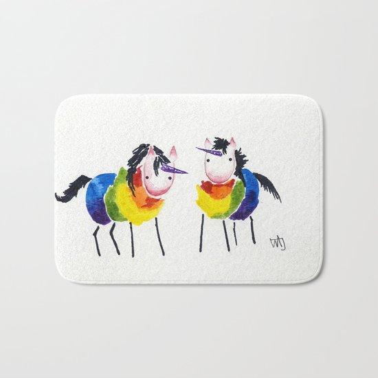 Little Rainbow Unicorns Bath Mat