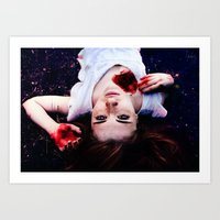 pain Art Prints featuring Pain by Lídia Vives