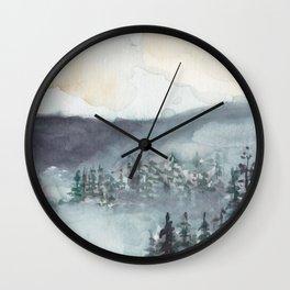 Mountain Mist Wall Clock