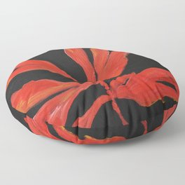 Fan Coral, Living coral, painting Floor Pillow