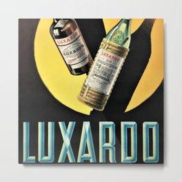 1945 Cherry Brandy Luxardo Zara Aperitif Alcoholic Beverage Advertisement Vintage Poster Metal Print