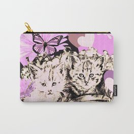 Frieda's Baby Cats in Pink Carry-All Pouch