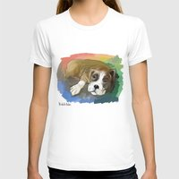 boxer T-shirts featuring Boxer by Michelle Behar