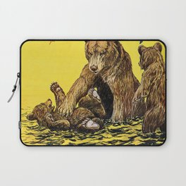 Vintage Poster - Learn To Swim Laptop Sleeve