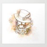 Steam Skull Art Print