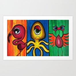 Character Trio Art Print