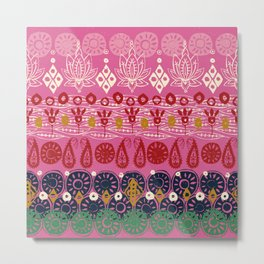 lotus block pink Metal Print