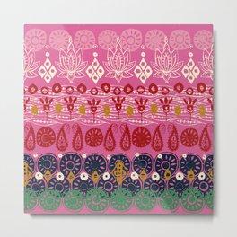 lotus block pink Metal Print