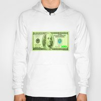 the 100 Hoodies featuring 100 Dollars by JT Digital Art