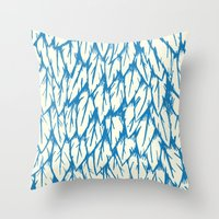 fringe Throw Pillows featuring Feathered Fringe by Joe Van Wetering