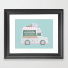 Ice Cream Truck Framed Art Print
