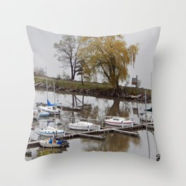 Weeping Willow and the Marina Throw Pillow