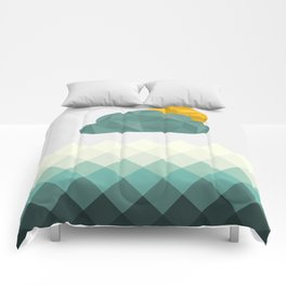 Sea Polygons Comforters