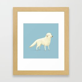 Golden Retriever Portrait Framed Art Print