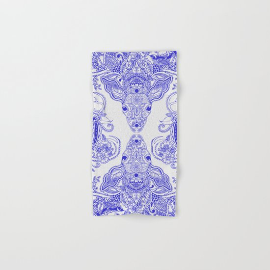 Little Blue Deer Hand & Bath Towel