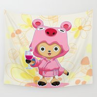 one piece Wall Tapestries featuring One Piece: TonyTony Chopper by Neo Crystal Tokyo