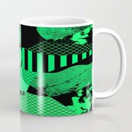 Black And Teal - Abstract, geometric, multi patterned artwork Coffee Mug