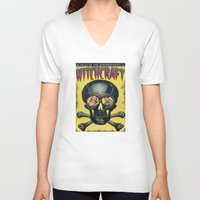 witchcraft V-neck T-shirts featuring WitchCraft by Copyright free comic fans
