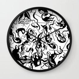 Abstract Line Art Suns Wall Clock