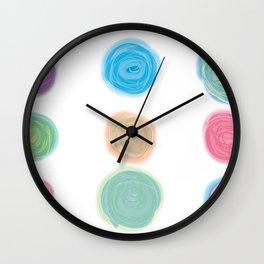 Colorful Cotton Balls Wall Clock
