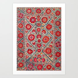 Kermina Suzani Uzbekistan Embroidery Print Kunstdrucke