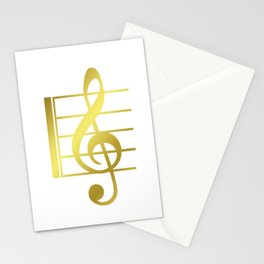 Musical symbol | music clef gift idea Stationery Cards