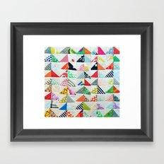 Flying Geese Quilt Pattern Framed Art Print