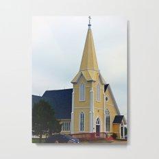 Small Yellow Church Metal Print