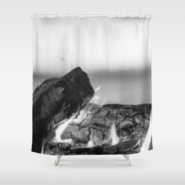 Summer Seaside Fires Shower Curtain