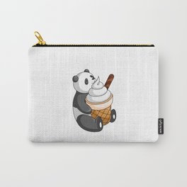 Hey Bear Panda White Ice Cream Carry-All Pouch