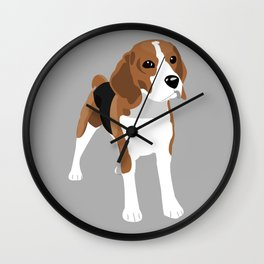 Beagle - Grey Wall Clock