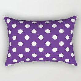 Purple Polka Dots Rectangular Pillow