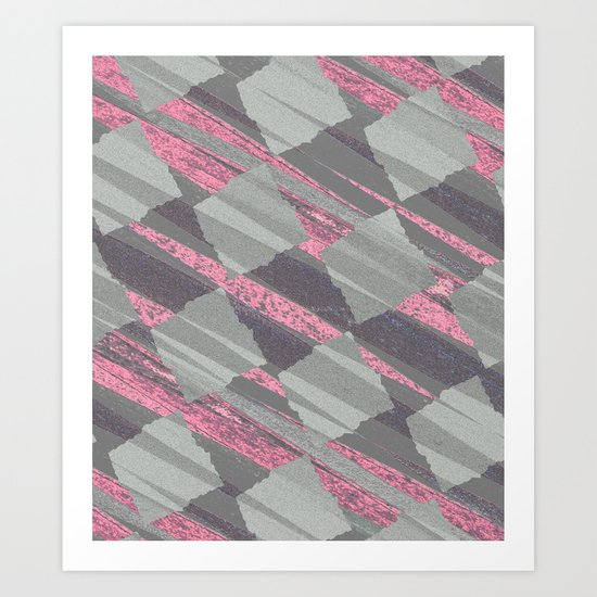 Gray & Pink Art Print
