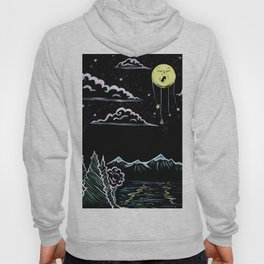 Sleepy Moon Above the Mountains Hoody