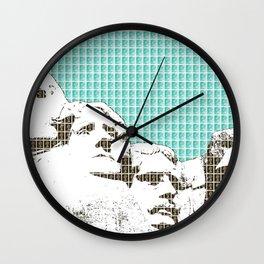 Mount Rushmore - Light Blue Wall Clock
