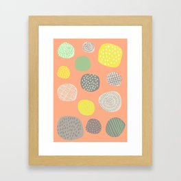 Abstract Multi-colored Circles Framed Art Print